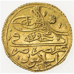 TURKEY: Mahmud I, 1730-1754, AV zeri mahbub (2.60g), AH1143 xii. EF