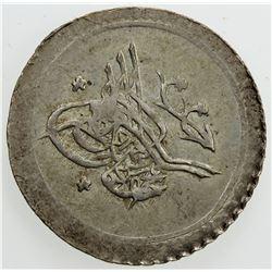 TURKEY: Mahmud II, 1808-1839, AR 5 para (0.77g), AH1223 year 16. EF-AU