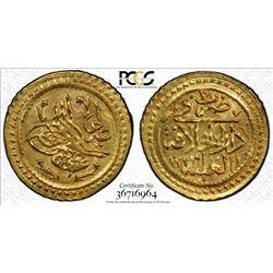 TURKEY: AV 1/4 surre altin (0.48g), Dar al-Khilafa, AH1