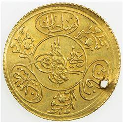 TURKEY: Mahmud II, 1808-1839, AV 2 hayriye altin (3.59g), AH1223 year 21. EF
