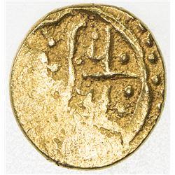 QALHATI AMIR: Turanshah II, 1437-1456 AH, AV 1/2 dinar (1.18g), Jarun, AH[8]44. VF