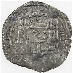 ILKHAN: Abaqa, 1265-1282, AR dirham (Baghd)ad, AH674. VF