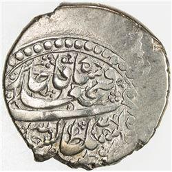 QAJAR: Fath 'Ali Shah, 1797-1834, AR riyal, Arz-i Aqdas (Mashhad), AH1234. VF