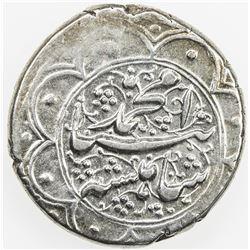QAJAR: Muhammad Shah, 1834-1848, AR qiran (5.33g), Mashhad, AH1256. VF-EF