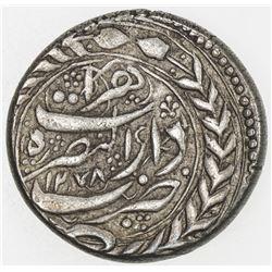 QAJAR: Nasir al-Din Shah, 1848-1896, AR qiran, Herat, AH1278. VF