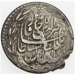 QAJAR: Nasir al-Din Shah, 1848-1896, AR qiran (4.85g), Astarabad, AH1289. VF
