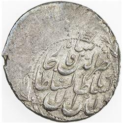 QAJAR: Nasir al-Din Shah, 1848-1896, AR qiran (4.91g), Tehran, DM