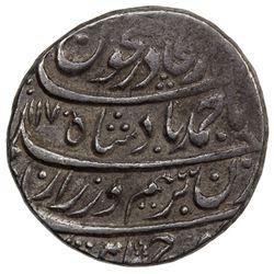 DURRANI: Ahmad Shah, 1747-1772, AR rupee (11.51g), Shahjahanabad (Delhi), AH1170 year 11. EF