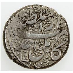 BARAKZAI: Habib Allah, 1824, AR rupee (10.52g), Kabul, AH1239 year one. VF