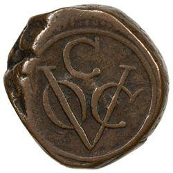 CEYLON (DUTCH): AE stuiver (12.78g), 1786-C. F-VF