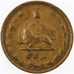 IRAN: Reza Shah, 1925-1941, AE 10 shahi, SH1314, KM-1126.2, small date, VF