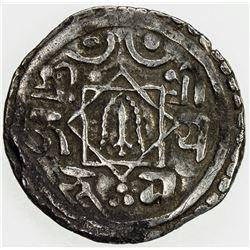 NEPAL: BHATGAON: Bhupatindra Malla, 1696-1722, AR suki (1.32g), NS816 (1696). VF
