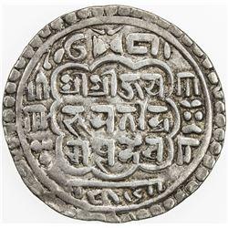 NEPAL: BHATGAON: Bhupatindra Malla, 1696-1722, AR mohar (5.45g), NS816 (1696). VF