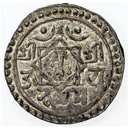 NEPAL: BHATGAON: Bhupatindra Malla, 1696-1722, AR 1/4 mohar (1.4g), NS816 (1696). VF