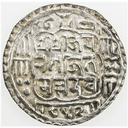 NEPAL: BHATGAON: Ranajit Malla, 1722-1769, AR mohar, NS842 (1722). EF