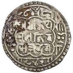 NEPAL: BHATGAON: Ranajit Malla, 1722-1769, AR mohar, NS842 (1722). VF