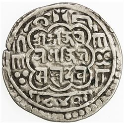 NEPAL: BHATGAON: Ranajit Malla, 1722-1769, AR mohar, NS842 (1722). F