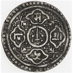 NEPAL: KATHMANDU: Chakravartendra Malla, 1669, AR 1/2 mohar (2.56g), ND. F-VF