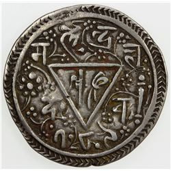 NEPAL: KATHMANDU: Chakravartendra Malla, 1669, AR mohar, NS789 (1669). VF-EF