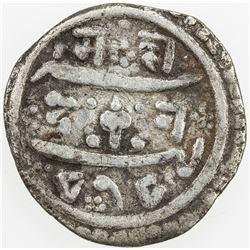 NEPAL: KATHMANDU: Bhaskara Malla, as crown prince, 1698-1701, AR ¼ mohar, NS818 (1698), KM-215, Fine