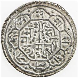 NEPAL: KATHMANDU: Jaya Jagajjaya Malla, 1722-1735, AR mohar, NS848 (1728), KM-231, EF