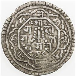 NEPAL: KATHMANDU: Jaya Jagajjaya Malla, 1722-1735, AR mohar, NS848 (1728). VF