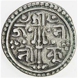 NEPAL: KATHMANDU: Kumudini Devi, regent, 1735-1746, AR suki (1/4 mohar) (1.26g), NS856 (1734). VF