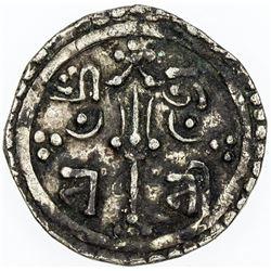 NEPAL: KATHMANDU: Jaya Lakshmi Devi, regent, 1746, AR suki (1/4 mohar) (1.34g), NS866 (1746). VF