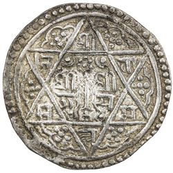 NEPAL: PATAN: Srinivasa Malla, 1661-1685, AR mohar (5.54g), NS786 (1666). EF