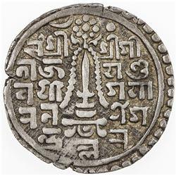 NEPAL: PATAN: Yoga Narendra Malla, 1685-1705, AR mohar (5.24g), NS820. VF