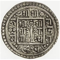 NEPAL: PATAN: Jaya Indra Malla, 1706-1709, AR mohar (5.31g), NS826. VF