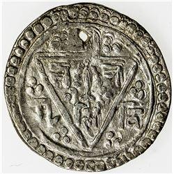 NEPAL: PATAN: Riddhi Narasimha, 1715-1717, AR 1/4 mohar (1.31g), ND. VF