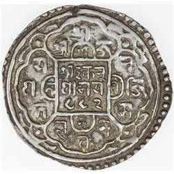 NEPAL: PATAN: Jaya Ranajit Malla, 1762-1763, AR mohar (5.48g), NS882 (1762). VF-EF
