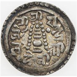 NEPAL: Pratap Simha, 1775-1777, AR 1/4 mohar, SE1697 (1775). EF