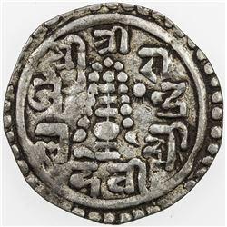 NEPAL: Pratap Simha, 1775-1777, AR 1/4 mohar (1.29g), SE1698 (1776). VF