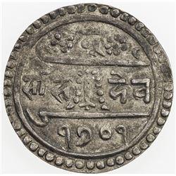 NEPAL: Rana Bahadur, 1777-1799, AR 1/2 mohar (2.77g), SE1701 (1779). EF