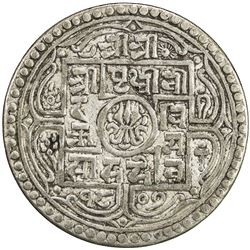 NEPAL: Prithvi Bir Bikram, 1881-1911, AR mohar, SE1807. VF