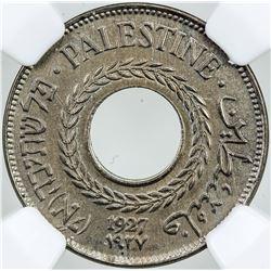 PALESTINE: 5 mils, 1927, KM-3, NGC graded MS64