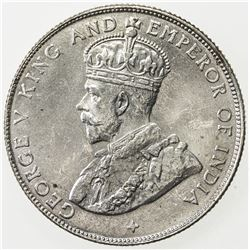 STRAITS SETTLEMENTS: AR 50 cents, 1921, KM-35.1, choice UNC