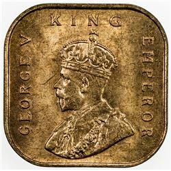 STRAITS SETTLEMENTS: AE 1/2 cent, 1932, KM-37, choice bu