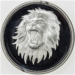 YEMEN: AR 2 riyals, 1969, KM-4, Qadhi Mohammed Mahmud Azzubairi Memorial-Lion, choice Proof