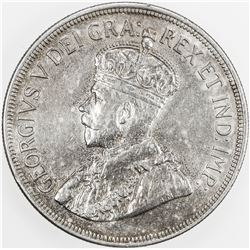 CYPRUS: George V, 1910-1936, AR 45 piastres, 1928. EF