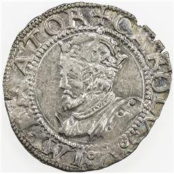 FRANCE: BESANCON: Charles V, 1519-1556, AR carolus, 1543. EF