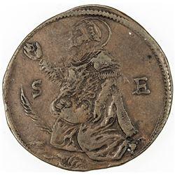FRANCE: LILLE: AE bread token (5.16g), 1637. VF