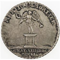 HAMBURG: AR Burgermeisterpfennig (7.25g), 1750. VF-EF