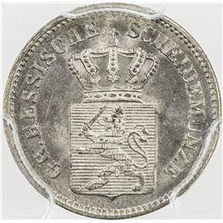 HESSE-DARMSTADT: Ludwig III, 1848-1877, AR kreuzer, 1871. PCGS MS65