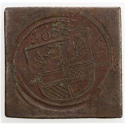 HILDESHEIM: AE token (9.13g), 1658. EF