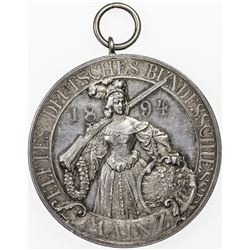 MAINZ: AR medal (39.05g), 1894. EF