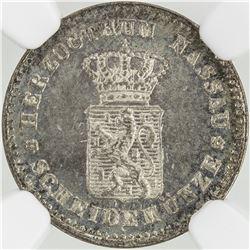 NASSAU: Adolph, 1839-1866, AR kreuzer, 1861
