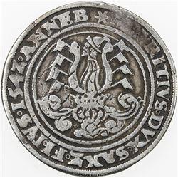 SAXONY-ERNESTINE LINE: Johann Friedrich I & Moritz, 1541-1547, AR 1/2 guldengroschen (14.32g), Annab